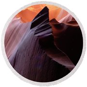 Antelope Canyon Story Of The Rock Round Beach Towel