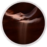 Antelope Slot Canyon Sand Round Beach Towel