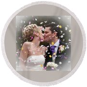 Anthony And Claire Round Beach Towel