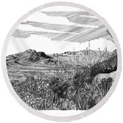 Anthony Gap New Mexico Texas Round Beach Towel