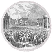 Anti-german Riot, 1851 Round Beach Towel