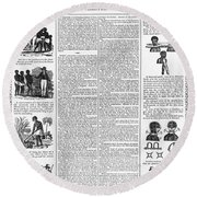 Anti-slavery Broadside Round Beach Towel