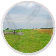 Antietam Battle Of The Cornfield Round Beach Towel