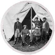 Antietam: Officials, 1862 Round Beach Towel