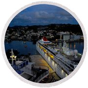 Antigua Dusk Round Beach Towel