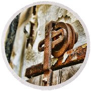 Antique - Door Rail - Rusty Round Beach Towel