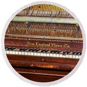 Antique Piano Round Beach Towel
