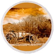 Antique Wagon Round Beach Towel