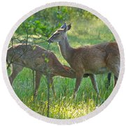 Any Day Now Round Beach Towel