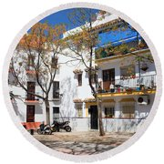 Apartment Houses In Marbella Round Beach Towel