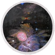 Aphrodite In Orion's Nebula Round Beach Towel