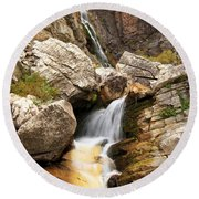 Apikuni Waterfall Round Beach Towel