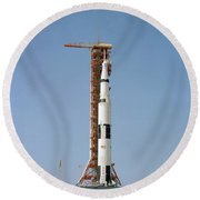 Apollo 10 Space Vehicle On The Launch Round Beach Towel