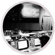 Apollo 11: Mission Control Round Beach Towel