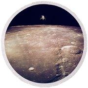 Apollo 12 Lunar Lander Round Beach Towel