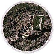Apollo 15 Lunar Experiment Round Beach Towel