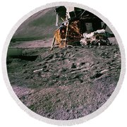 Apollo 15 Lunar Module Round Beach Towel