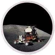 Apollo 17 Astronaut Makes A Short Round Beach Towel