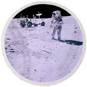 Apollo Mission 16 Round Beach Towel