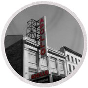 Apollo Theater In Harlem New York No.2 Round Beach Towel