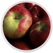 Apples For Sale Round Beach Towel