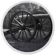 Appomattox Cannon Round Beach Towel by Teresa Mucha