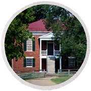 Appomattox County Court House 1 Round Beach Towel by Teresa Mucha