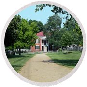 Appomattox County Court House 2 Round Beach Towel by Teresa Mucha