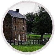 Appomattox County Jail Round Beach Towel