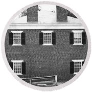Appomattox Courthouse Round Beach Towel by Teresa Mucha
