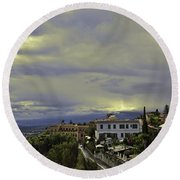 Approaching Storm - Sicily Round Beach Towel