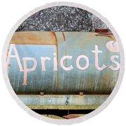 Apricots Round Beach Towel