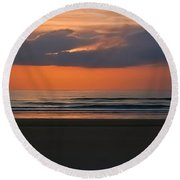 April Sunrise Round Beach Towel
