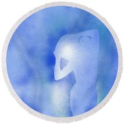 Aquarius 2 Round Beach Towel
