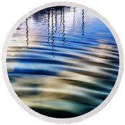 Aquatic Reflections Round Beach Towel