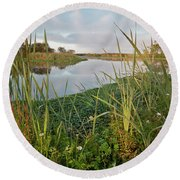 Arcata Marsh Round Beach Towel