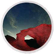 Arch And Stars Round Beach Towel