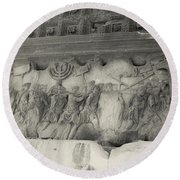 Arch Of Titus, Rome, Italy Round Beach Towel