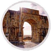 Arch Of Triumph Round Beach Towel