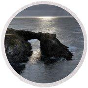 Arch Rock Round Beach Towel