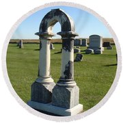 Arch Tombstone Round Beach Towel