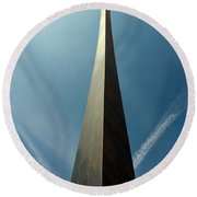 Arch With A Flare Round Beach Towel