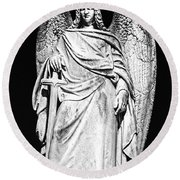 Archangel By Night Round Beach Towel