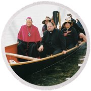 Archbishop Arrives One Round Beach Towel