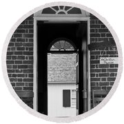 Arched Doors Appomattox Virginia Round Beach Towel