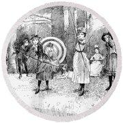 Archery, 1886 Round Beach Towel