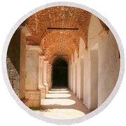 Arches And Shadows Round Beach Towel