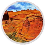 Arches Canyon Round Beach Towel