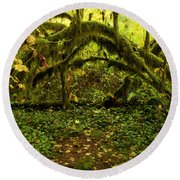 Arches In The Rainforest Round Beach Towel