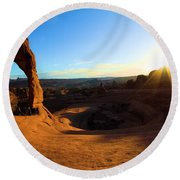 Arches Starburst Round Beach Towel